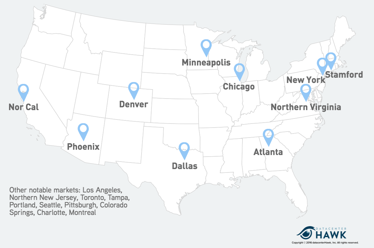 Q2 2016 Data Center Search: Our ysis - datacenterHawk Dallas Va Map on